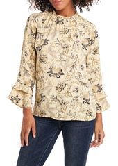 Vince Camuto Antique Floral Toile Ruffle Sleeve Blouse