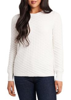 Vince Camuto Basket Weave Cotton Blend Sweater
