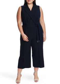 Vince Camuto Belted Sleeveless Crop Jumpsuit (Plus Size)
