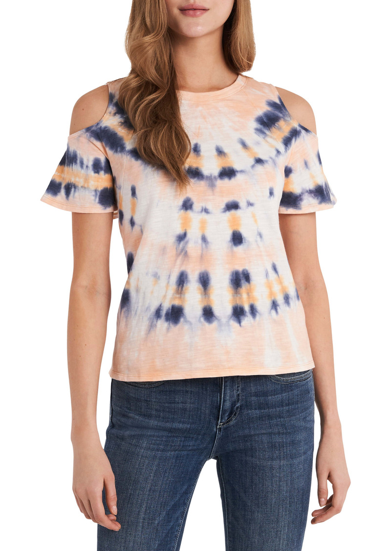 Vince Camuto Cold Shoulder Tie Dye Top