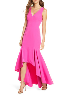 Vince Camuto Crepe High/Low Gown
