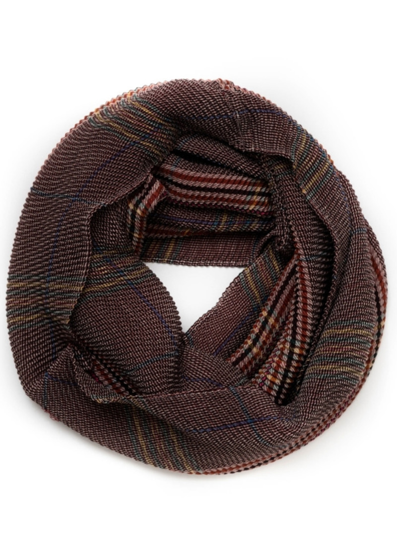 Vince Camuto Crinkle Plaid Infinity Scarf