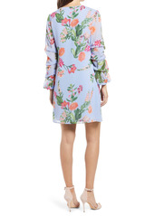 Vince Camuto Floral Long Sleeve Shift Dress