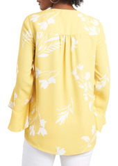 Vince Camuto Floral Print Trumpet Sleeve Top