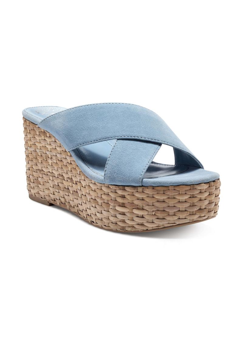 Vince Camuto Greathel Espadrille Platform Slide Sandal (Women)