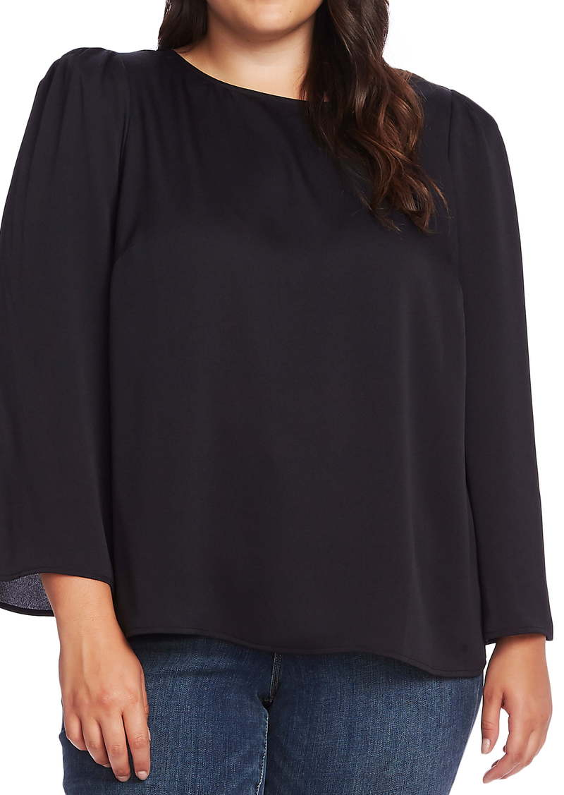 Vince Camuto Hammered Satin Blouse (Plus Size)