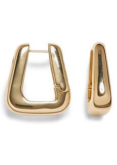 Vince Camuto Hinge Trapezoid Hoop Earrings