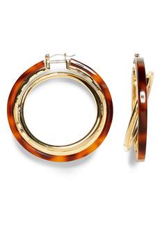 Vince Camuto Interlocking Resin Hoop Earrings