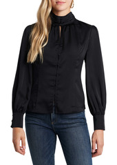 Vince Camuto Keyhole High Neck Blouse