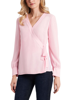 Vince Camuto Long Sleeve Georgette Wrap Blouse