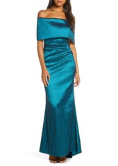 Vince Camuto Off the Shoulder Taffeta Gown