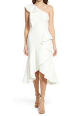 Vince Camuto One-Shoulder Ruffle High/Low Cocktail Dress