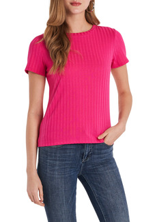 Vince Camuto Ribbed Short Sleeve Knit Top