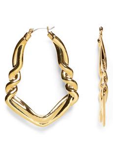Vince Camuto Rope Hoop Earrings