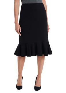 Vince Camuto Ruffle Hem Ponte Pencil Skirt