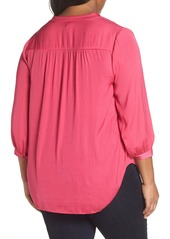 Vince Camuto Rumple Fabric Blouse (Plus Size)