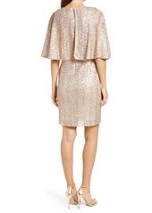 Vince Camuto Sequin Capelet Cocktail Dress