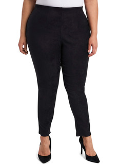 Vince Camuto Stretch Suede Ankle Pants (Plus Size)