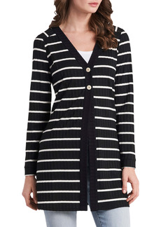 Vince Camuto Stripe Two-Button Cardigan