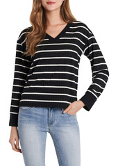 Vince Camuto Stripe V-Neck Top