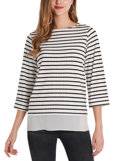 Vince Camuto Striped Ribbed Tunic Top