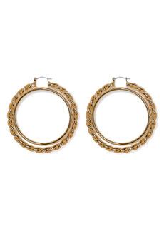 Vince Camuto Textured Interlocking Hoop Earrings