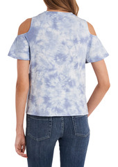 Vince Camuto Tie Dye Cold Shoulder Top