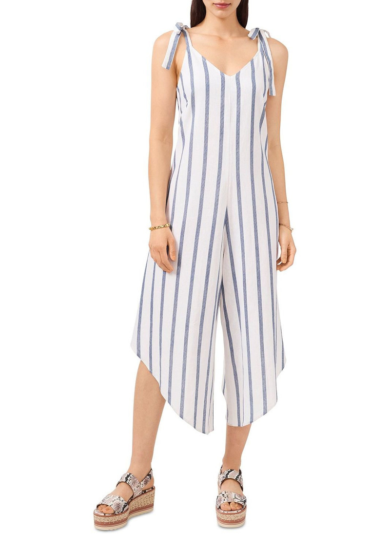 VINCE CAMUTO Tie Shoulder Linen Blend Jumpsuit