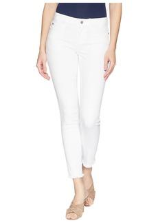Vince Camuto Women's Frayed Hem Five Pocket Jean