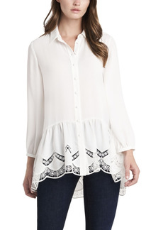 Vince Camuto Women's Peplum Tunic with Lace