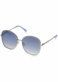 Vince Camuto VC881 Square UV Protective Metal Sunglasses with Textured Geometric Etched Frame | Wear Year-Round | Luxe Gifts for Women