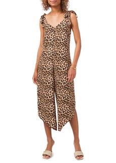 Women's Vince Camuto Leopard Tie Strap Jumpsuit