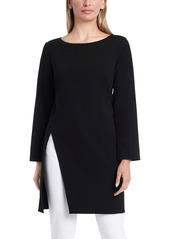 Women's Vince Camuto Long Sleeve Side Slit Crepe Ponte Tunic Top
