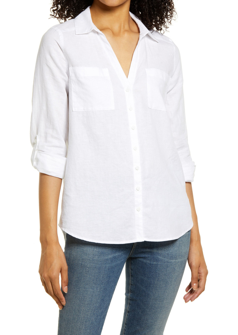 Women's Vince Camuto Roll Tab Button-Up Shirt