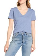 Women's Vince Camuto Studded V-Neck Cotton Blend T-Shirt