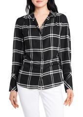 Women's Vince Camuto Windowpane Plaid Long Sleeve Button-Up Shirt