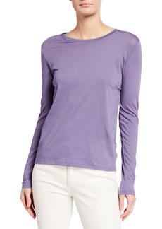 Vince Essential Long-Sleeve Crewneck T-Shirt