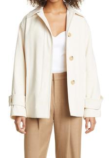 Vince Belted Cotton & Wool Blend Jacket