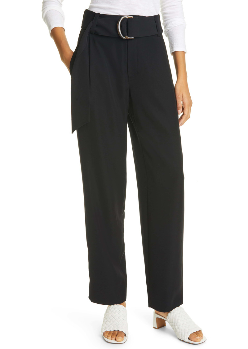 Vince Belted Tapered Trousers