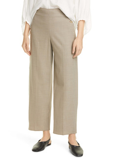 Vince Camuto High Waist Side Button Ankle Pants
