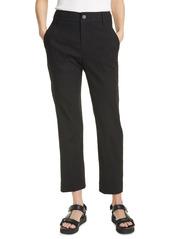 Vince Crop Linen Blend Utility Pants
