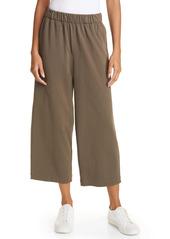 Vince Crop Wide Leg Cotton Pants