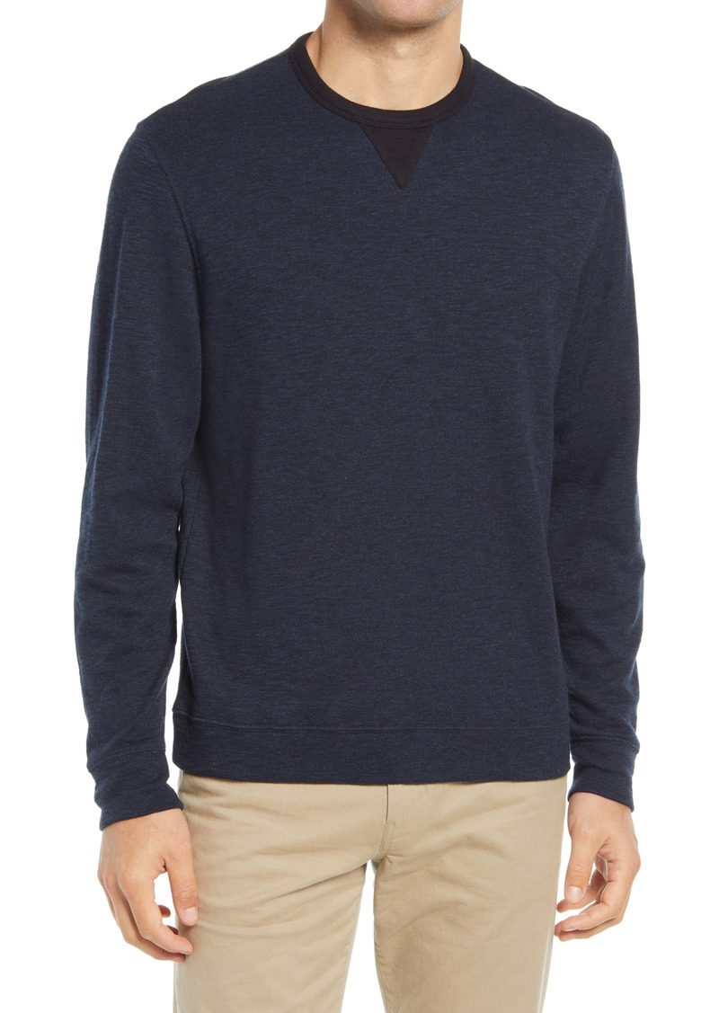 Vince Double-Knit Cotton Crewneck Sweater