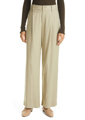 Vince Flannel Pleat Wide Leg Pants