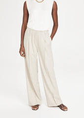 Vince Flannel Wide Leg Pull On Pants