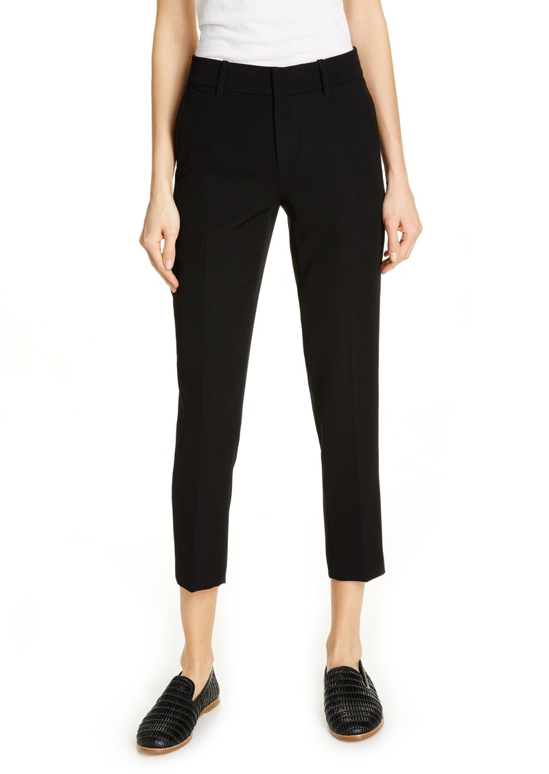 Vince Flat Front Crop Trousers