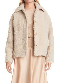 Vince Fleece Button-Up Jacket