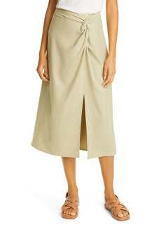 Vince Front Twist Flannel Skirt