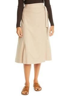 Vince High Waist Belted Skirt