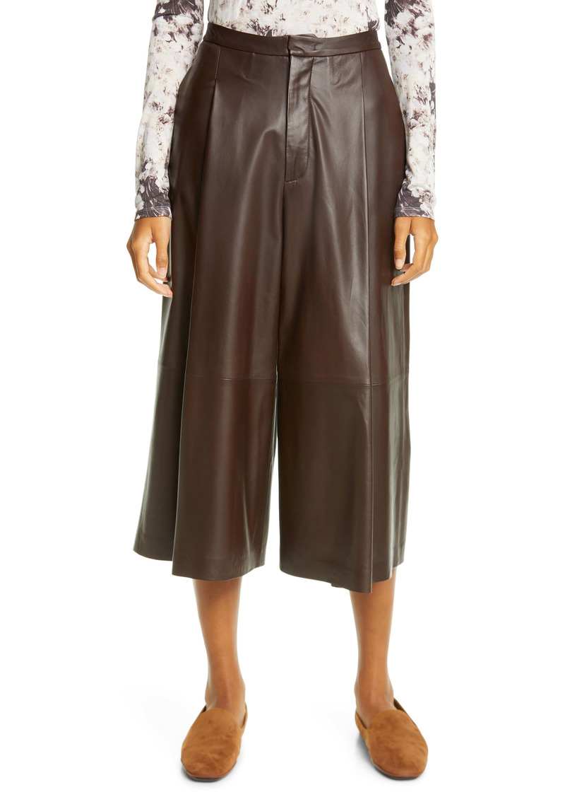 Vince Leather Culottes